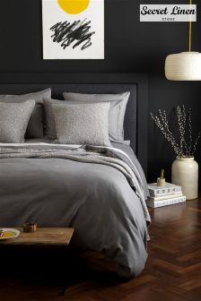Secret Linen Company Brushed Effect Duvet Cover