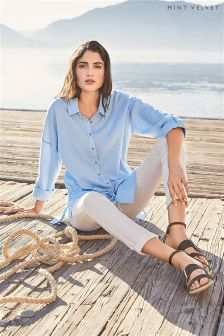 Mint Velvet Bluebell Drawstring Detail Shirt
