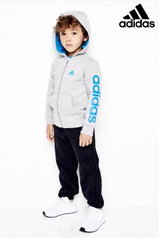 adidas Little Kids Grey/Black Hojo Tracksuit