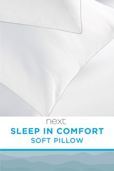 Set of 2 Sleep In Comfort Soft Pillows