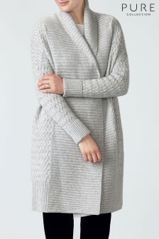 Buy Women's knitwear Cardigans Grey Cashmere from the Next UK ...