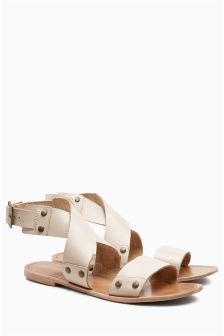 Leather Hardware Sandals