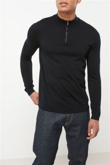 Merino Zip Neck