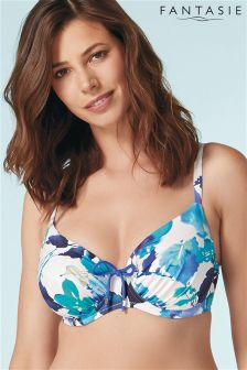 Fantasie Blue Capri Underwired Gathered Full Cup Bikini