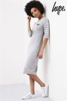 Hype Grey Long Line Tape Dress