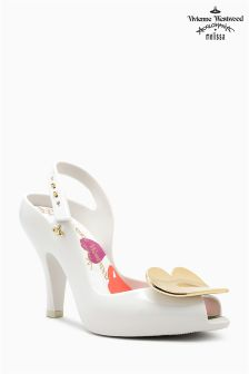 Vivienne Westwood Lady Dragon White Heart Heel Shoe