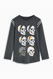 Festival Skull Long Sleeve Top (3-16yrs)