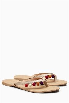 Pom Pom Toe Thongs