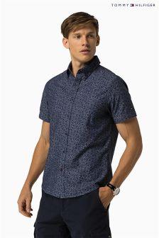 Tommy Hilfiger Navy Byram Floral Print Shirt