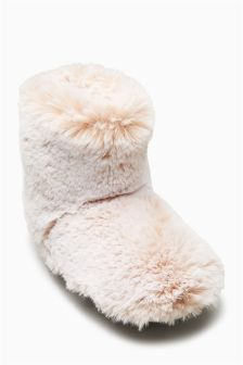 Faux Fur Slipper Boots (Older Girls)
