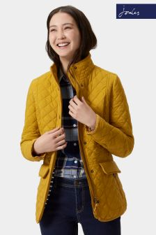 Joules Yellow Quilted Newdale Jacket