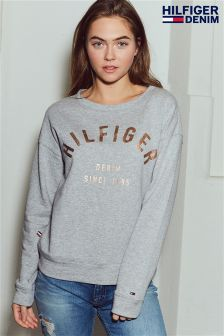 Tommy Hilfiger Grey Basic Graphic Sweater