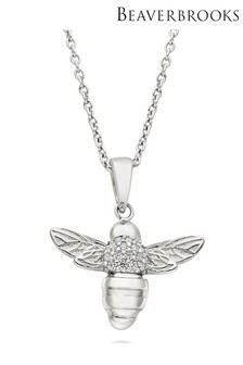 Beaverbrooks Summer Paradise Silver Cubic Zirconia Bee Pendant