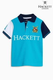 Hackett Turquoise Tropical Multi Poloshirt