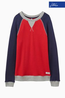Joules Leon Red Crew Neck Sweatshirt