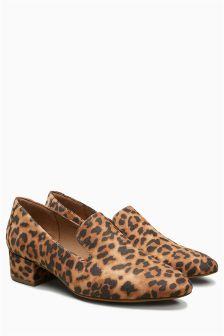 Block Heel Slipper Shoes
