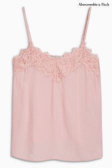 Abercrombie & Fitch Pink Lace Cami