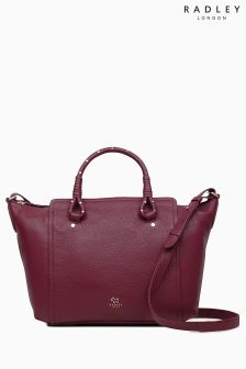Radley Berry Red Darling Row Large Zip Top Multiway Bag