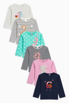 Multi Long Sleeve T-Shirt With Faux Fur Appliqué (12mths-7yrs)
