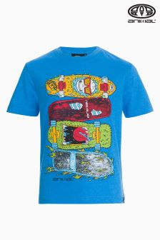 Animal Tilo Malibu Blue Marl Graphic T-Shirt