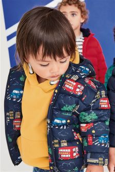 London Print Padded Jacket (3mths-6yrs)