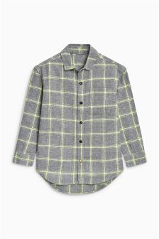 Long Sleeve Fluro Check Shirt (3-16yrs)