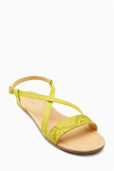 Metallic Strap Sandals (Older Girls)