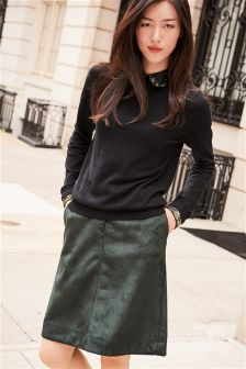 A Line Suedette Skirt