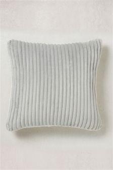 Ribbed Fleece Cushion