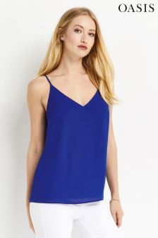 Oasis Rich Blue V-Neck Cami