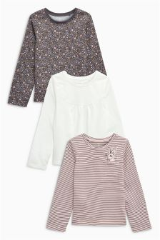 Bunny Long Sleeve T-Shirts Three Pack (3mths-6yrs)