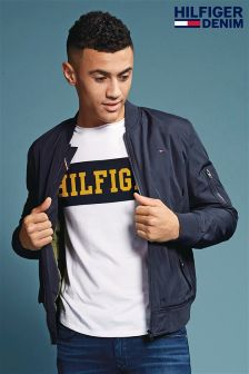 Hilfiger Denim Blue Straight Padded Bomber Jacket