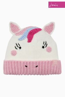Joules Cream Unicorn Character Hat