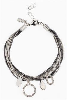 Sparkle Charm Multi Chain Bracelet