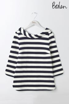 Boden Ivory/Navy Sarah Ponte Top