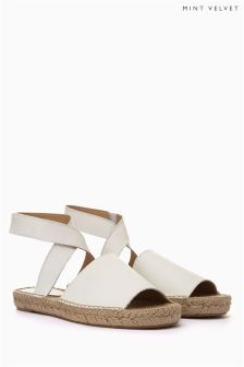 Mint Velvet Ivory Sue Wrap Around Espadrilles