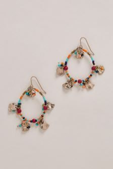 Beaded Detail Hoop Earrings