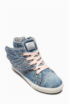 Wings High Top Trainers (Older Girls)
