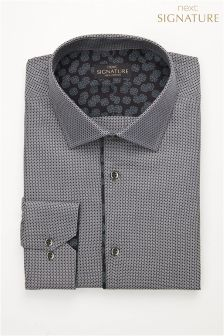 Signature Pattern Slim Fit Shirt