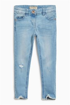 Curved Frayed Hem Jeans (3-16yrs)