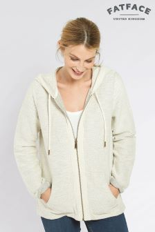 Fat Face Ivory Southwold Textured Sweat