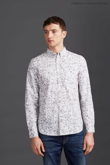 French Connection White Classic Printed Shirt
