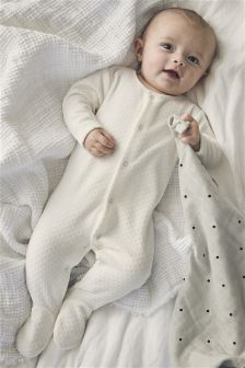Velour Sleepsuit (0-18mths)