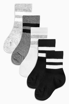 Sports Five Pack Socks (Younger Boys)