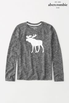 Abercrombie & Fitch Long Sleeve Moose Tee