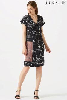 Jigsaw Grey Waterpool Constance Dress