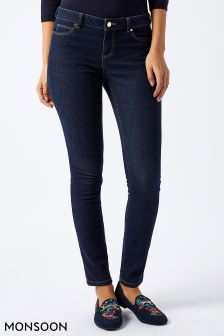 Monsoon Blue Iris Mid Rise Skinny Jean