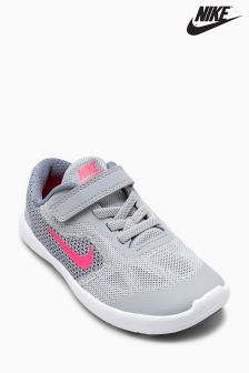 Nike Grey/Red Revolution 3