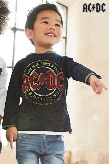 Long Sleeve AC-DC T-Shirt (3mths-6yrs)