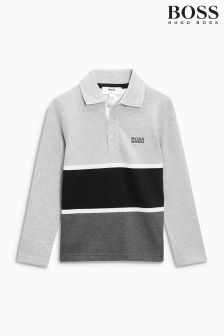 Hugo Boss Grey/Black Stripe Polo